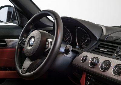 Čištění a ošetření plastů v interiéru BMW Z4 Cabrio