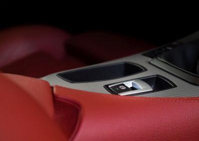 Detail v interiéru BMW Z4 Cabrio