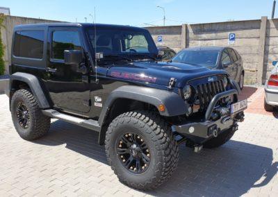 Leštění auta Jeep Rubicon