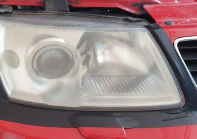 Leštění světlometů vozu SAAB